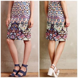 Anthropologie HD in Paris Kaleidoscope Knit Skirt